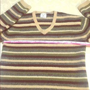 By design modern graffiti 100%wool striped sweater